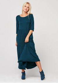 Maxi dress with 3/4 sleeves
