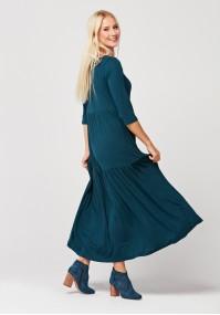 Maxi sukienka z 3/4 rękawem