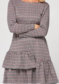 Sukienka w drobną pepitkę