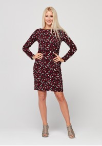 Knitted dress with dots