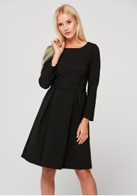 Elegant dress with small white dots