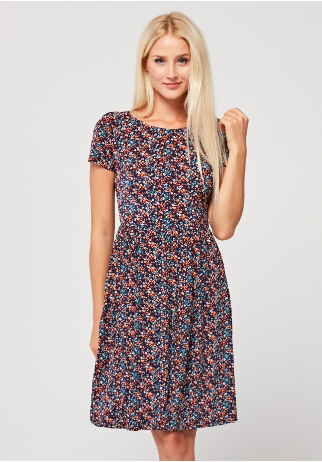 Dress with orange flowers