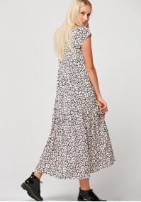 Sukienka z falbanami w kwiaty