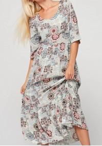 Maxi tapered waist dress