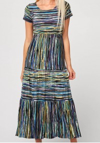 Long dress with colorful stripes