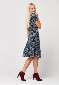 Odcinana sukienka w kwiatki