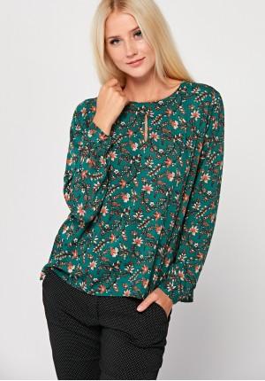 Jesienna bluzka z długim rękawem