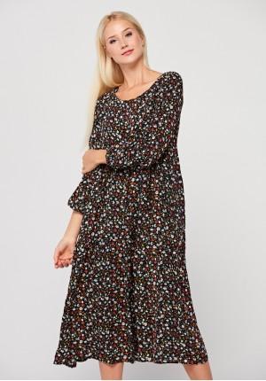 Długa sukienka w drobne kwiatki