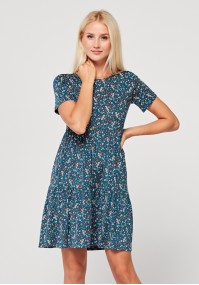 Flared dress with small flowers