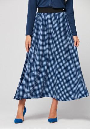 Długa spódnica w geometryczny wzór