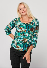 Blouse with colorful spots