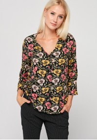 Blouse with colorful flowers