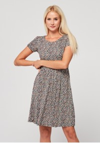 Flared Dress with white flowers