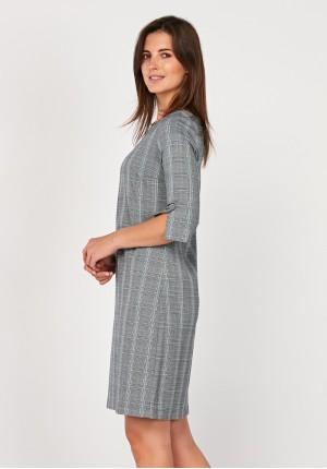 Szara sukienka w kratkę