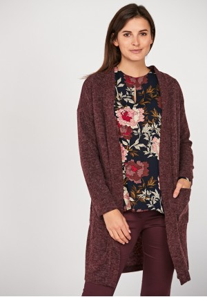 Long mantle burgundy sweater