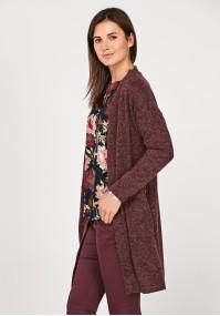 Long mantle burgundy sweater