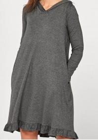 Sport dress with a hood