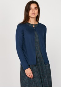Navy Blue Sweater with one button