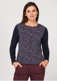 Loose blouse with dots