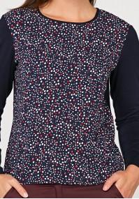 Luźna bluzka w kropki
