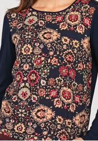 Luźna bluzka w kwiatki