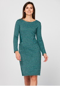 Turquoise dress with pockets