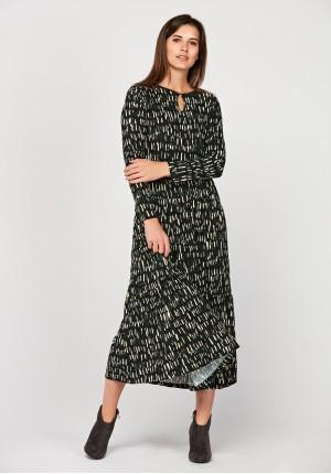 Maxi sukienka w plamki
