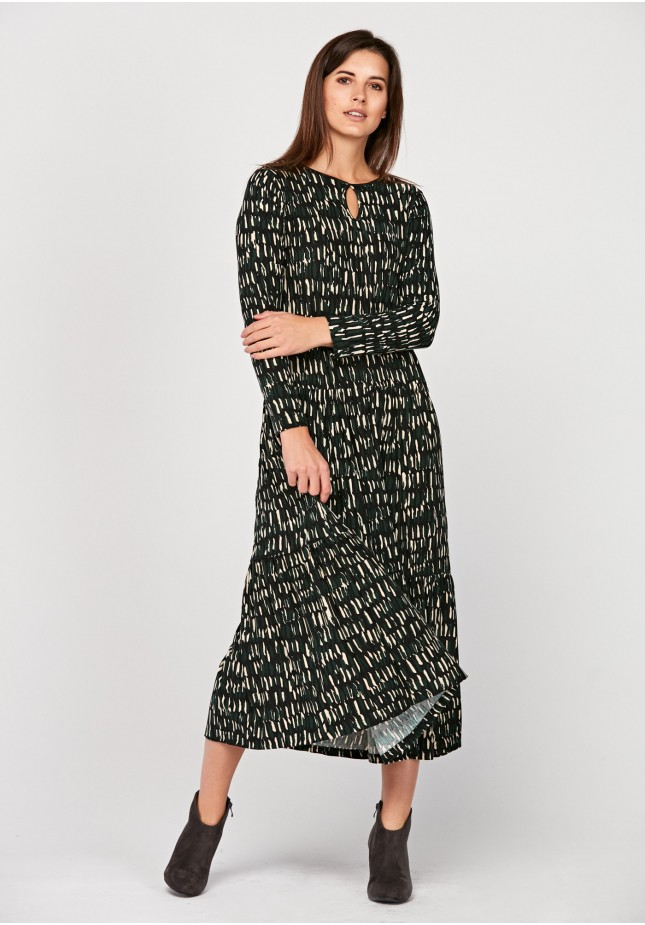 Maxi dress with spots