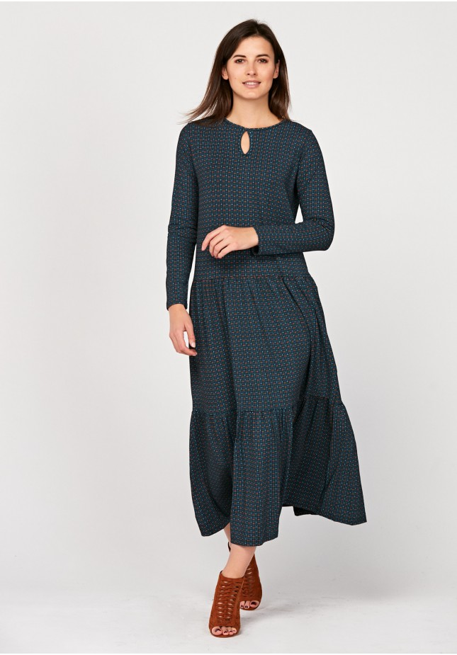 Maxi dress with frill