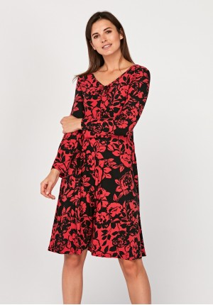 Dress with roses
