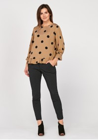 Blouse with big dots