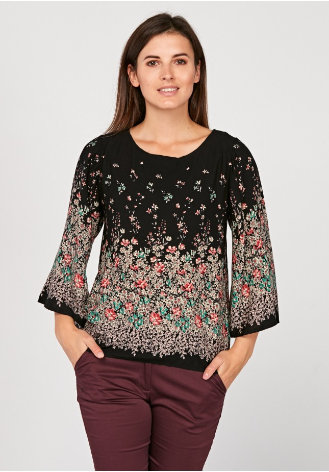 Ombre Blouse with flowers