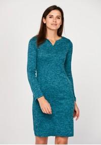 Dopasowana turkusowa sukienka