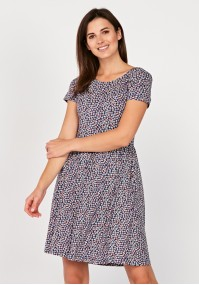 Sukienka odcinana w pasie z rękawkiem