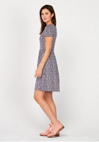Flowery flared dress