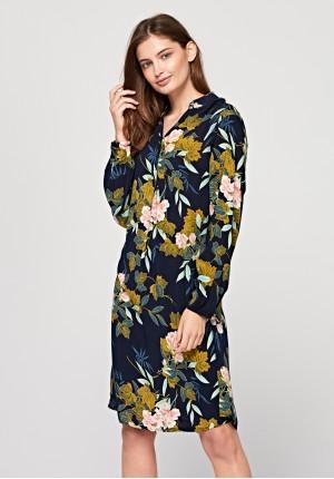 Sukienka 1498 (różowe kwiaty)