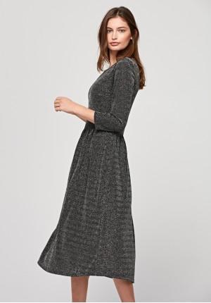 Brokatowa sukienka midi