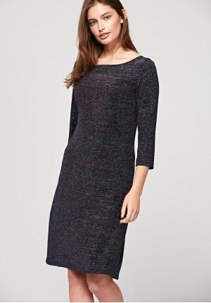 Prosta brokatowa sukienka