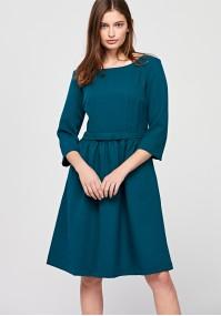 Odcinana sukienka z kokardką