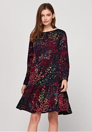 Jesienna sukienka z falbaną