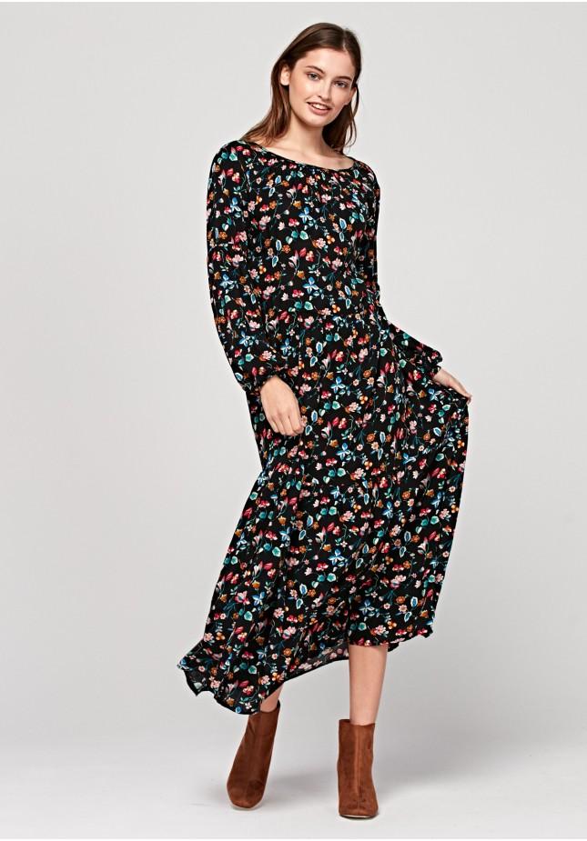Maxi sukienka w kwiaty