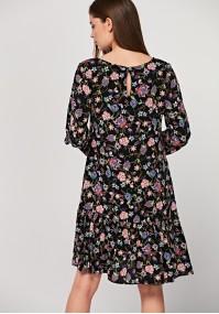 Wiskozowa sukienka z falbanką