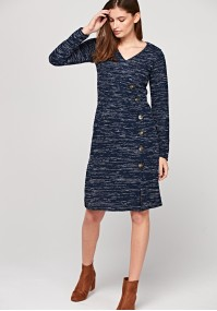 Warm dress with buttons