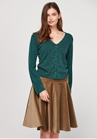 Flared skirt with dots