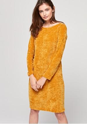 Welurowa dopasowana sukienka