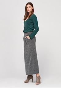 Long knitted skirt