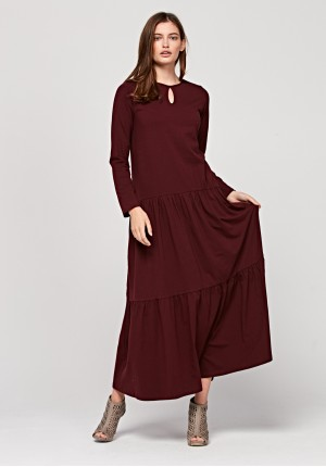 Long dress with frills