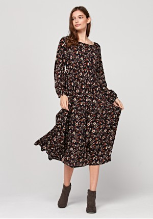 Dress with autum print