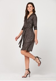 Brocade tied dress