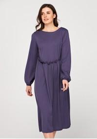 Fioletowa sukienka midi